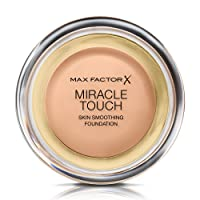Max Factor Miracle Touch Skin Smoothing Foundation, 45 Warm Almond