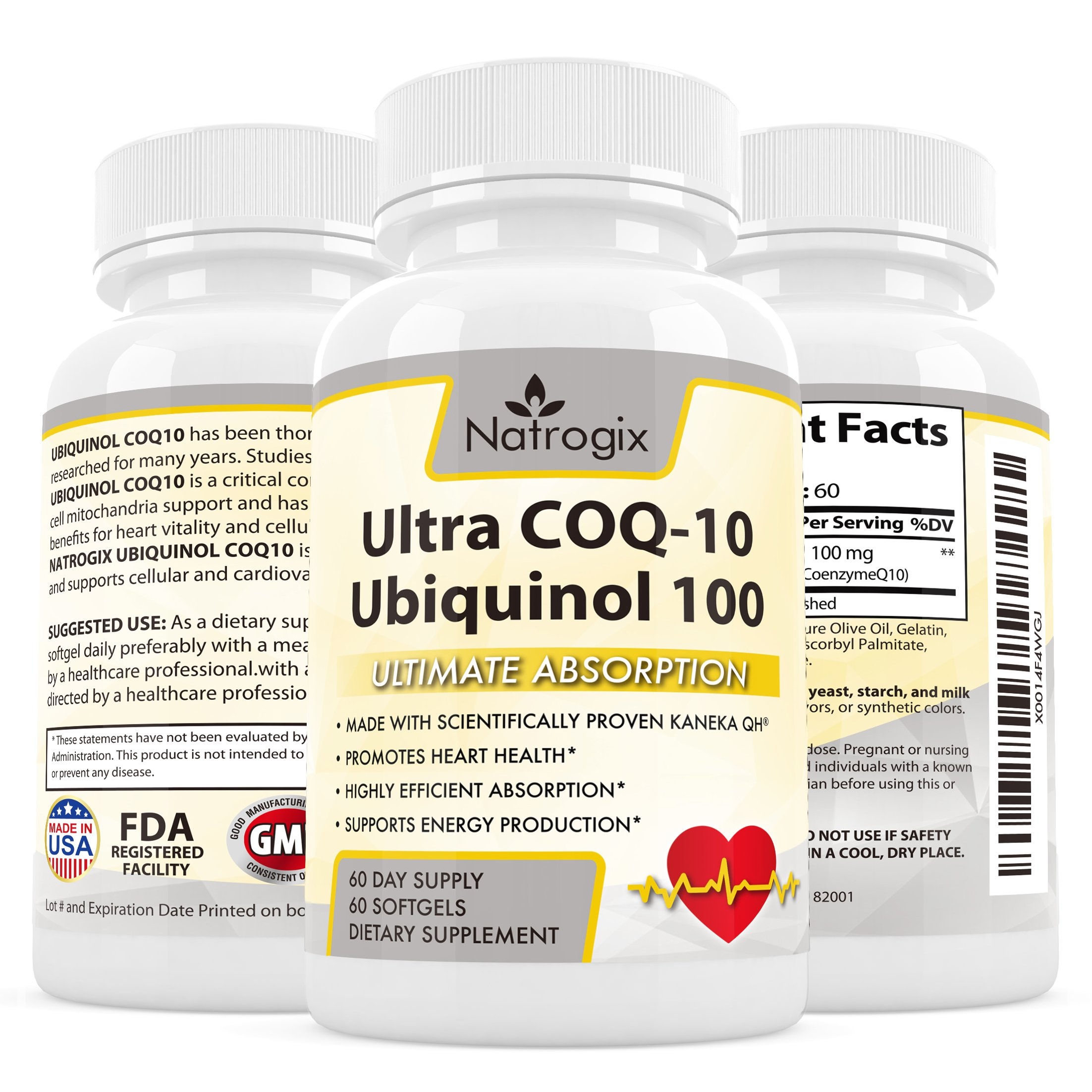 Highly Absorbable Coq-10 Ubiquinol 100Mg Supplement - Coenzyme Q10 Promotes H.. 10