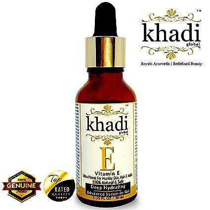 khadi mundial de profundidad Advanced vitamina E Hidratante Piel Y Cabello Suero – en – Aceite