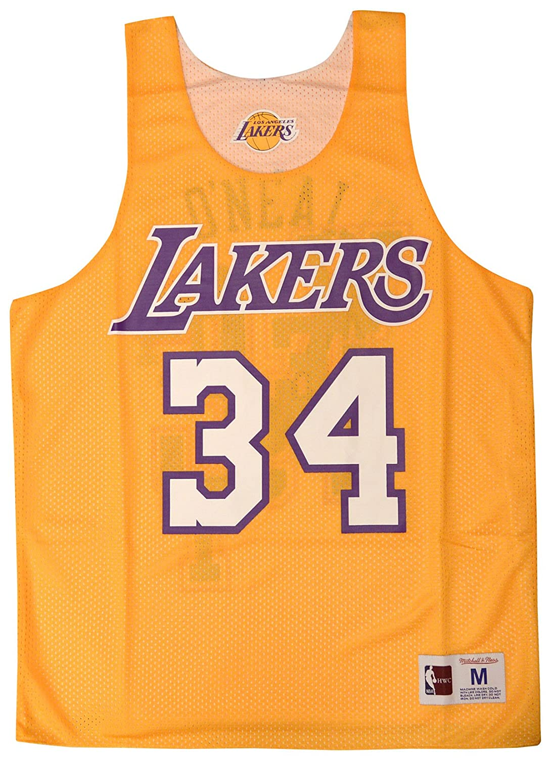 aab8d4f60 Amazon.com   Mitchell   Ness Shaquille O Neal  34 Los Angeles Lakers 2004  All Star Game Reversible Mesh Tank Top   Clothing