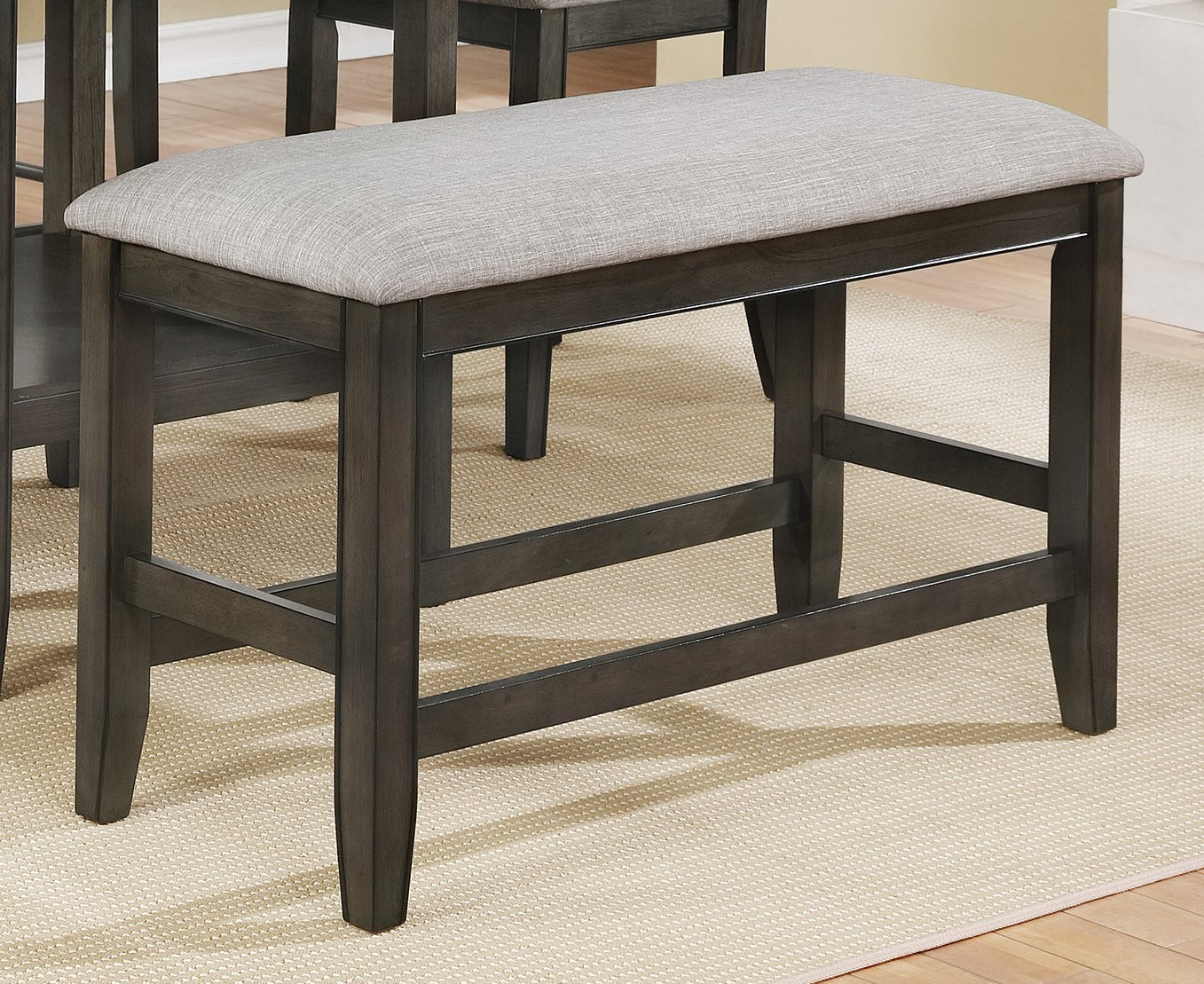 American Furniture Classics 2727B Dining Bench, Gray