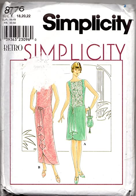 Simplicity 8776 Retro 1920s Reproduction Misses\' Flapper Dress and ...