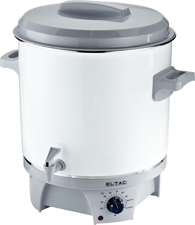 Eltac EKA 179 - Olla eléctrica con grifo para preparar conservas y vino caliente (27 l, 1800W)