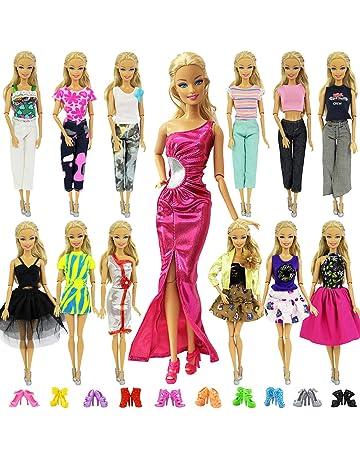 034d90966 ZITA ELEMENT 20 Piezas Ropa Barbie Accesorios para Muñeca Barbie - 10  Piezas Ropa Barbie Fashionista