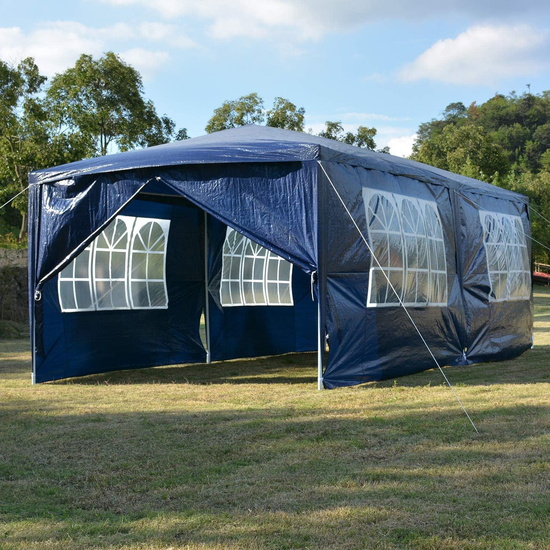 ISE - Cenador de 3 x 6 cm para Fiestas, Camping, Festivales, Cerveza, Azul: Amazon.es: Jardín