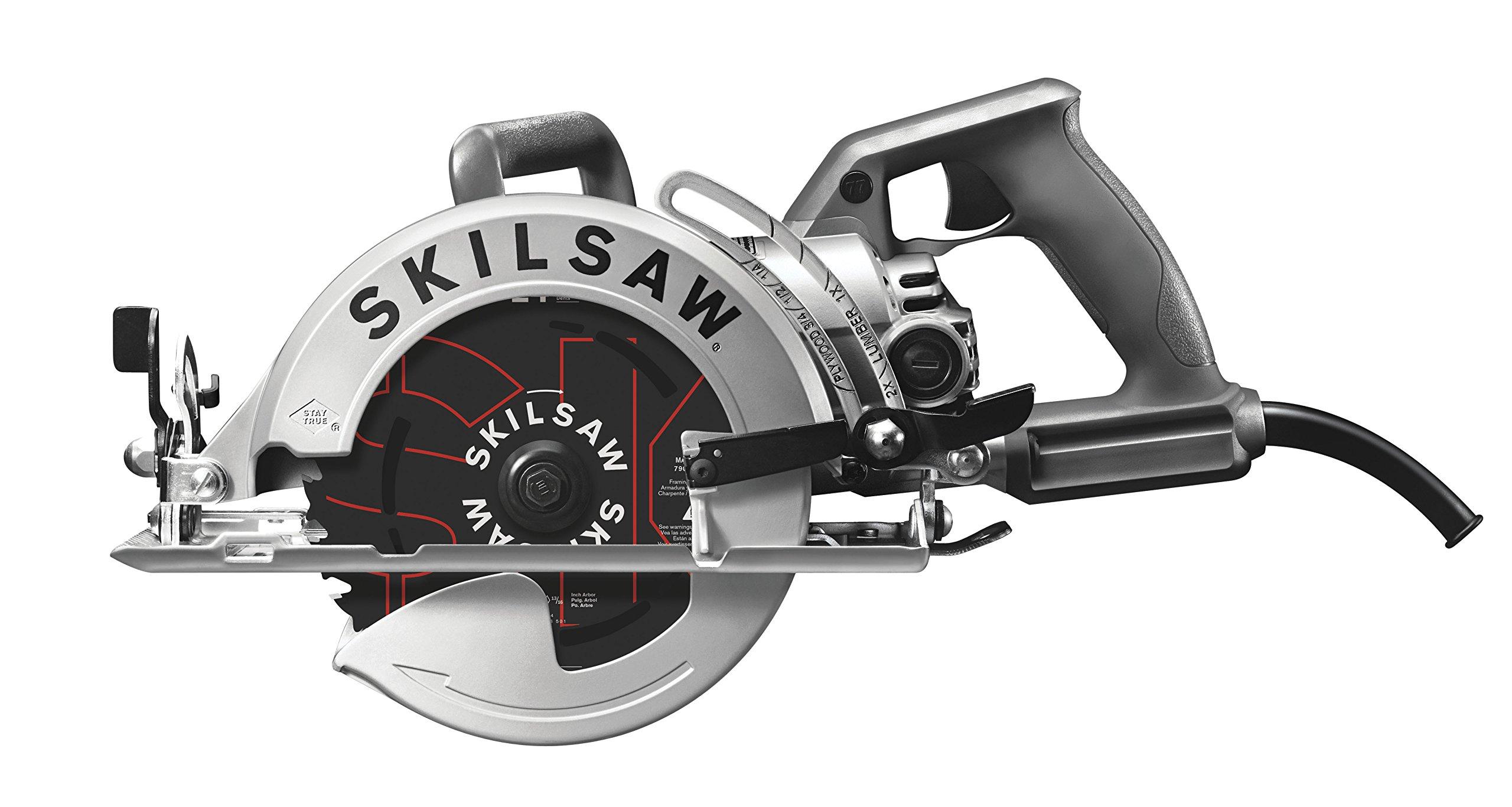 SKILSAW SPT77W-01 15-Amp 7-1/4-Inch Aluminum Worm Drive Circular Saw by SKILSAW