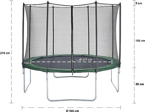 CZON SPORTS - Cama elástica infantil, 360 cm (verde): Amazon.es ...