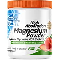 Doctor's Best High Absorption Magnesium Powder (Peach Flavored) 100% Chelated TRACCS, Not Buffered, Headaches, Muscle…