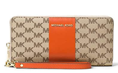 9a2037b316e754 Image Unavailable. Image not available for. Color: MICHAEL Michael Kors  Signature Center Stripe Jet Set Travel Continental Wallet