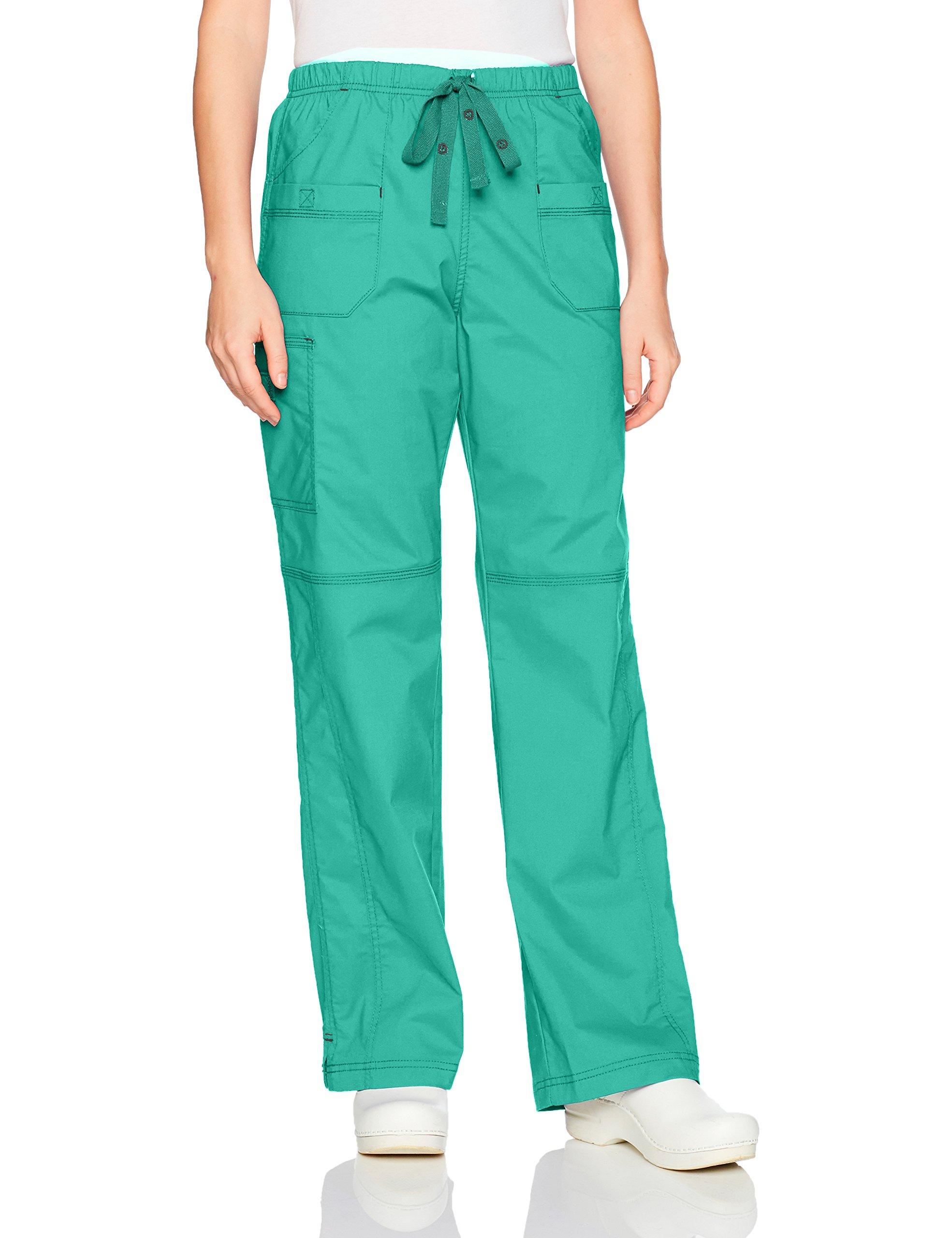 WonderWink Women's Faith Multi-Pocket Cargo Pant, Surgical Green, Medium by WonderWink