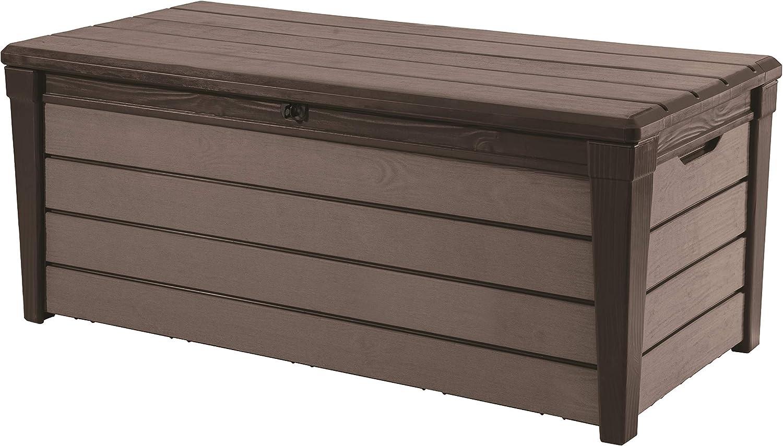 Keter - Arcón exterior Brushwood WLF, Capacidad 454 litros, Color marrón