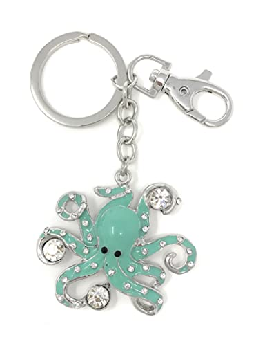 Amazon.com: Jeweled y pulpo llavero/Monedero joyas, plata ...