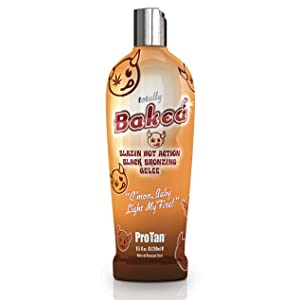 Pro Tan TOTALLY BAKED Blazin Hot Black Instant Bronzing Gelee Tanning Lotion 8.5 oz