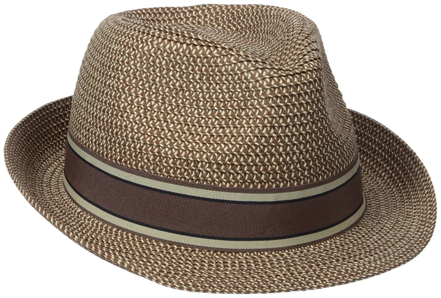 Henschel Mens Crushable Fedora with Braided Strips and Grosgrain Bow Band Fedora