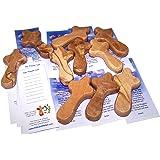 Zuluf - Croci tascabili in legno d'ulivo, 10 pezzi, misura piccola