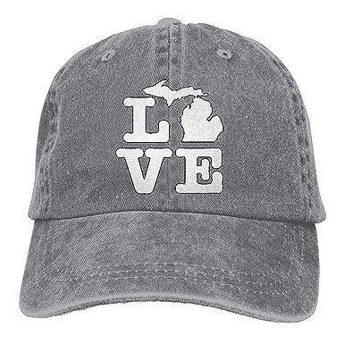 Hoswee Unisexo Gorras de béisbol/Sombrero, Men and Women I Love ...