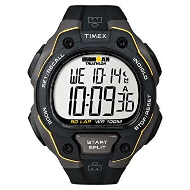 amazon com timex ironman 50 lap black timex watches rh amazon com