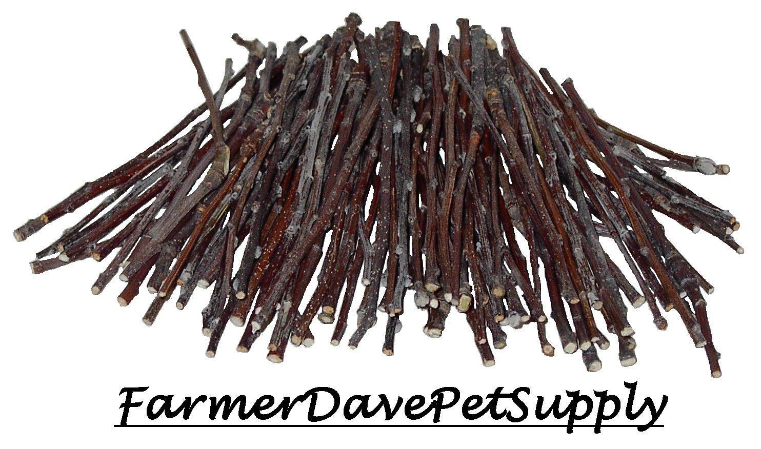 FarmerDavePetSupply 100 Apple Ultra Skinny Chew Twigs for Small Animals by FarmerDavePetSupply