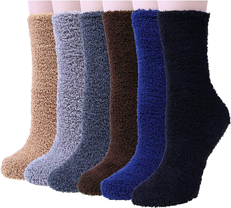 4 Pairs Ladies Soft Fluffy Lounge Cosy Bed Socks Warm Christmas SIZE 4-7  ABSSSS