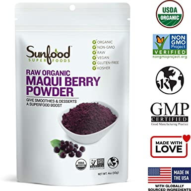Amazon Com Sunfood Maqui Berry Powder 4 Ounces Nutritional Supplements And Vitamins Grocery Gourmet Food