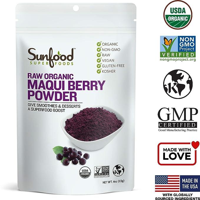 Amazon Com Sunfood Maqui Berry Powder 4 Ounces Nutritional