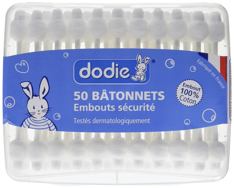 Dodie-Bâtonnets bébé- Boîte de 50 2031996 coton tige