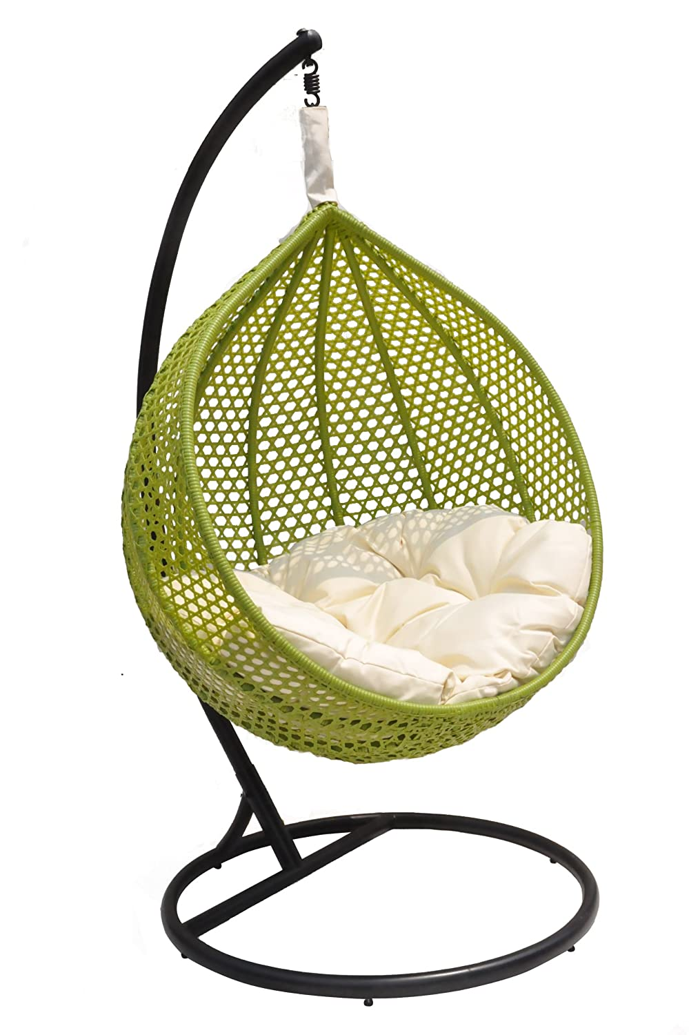 Amazon.com: Ravelo U2013 Vibrant Porch Swing Chair With Hanging Stand U2013  PE 03GN(Y9104GN): Kitchen U0026 Dining