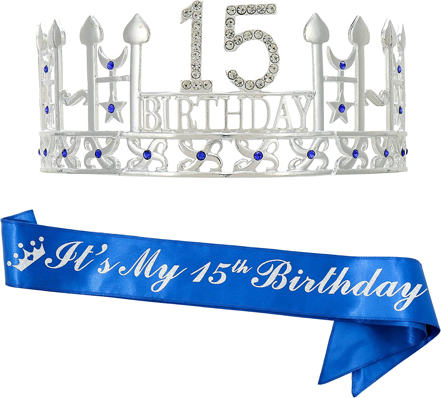 15th Birthday Gifts for BOY, Birthday Crown and