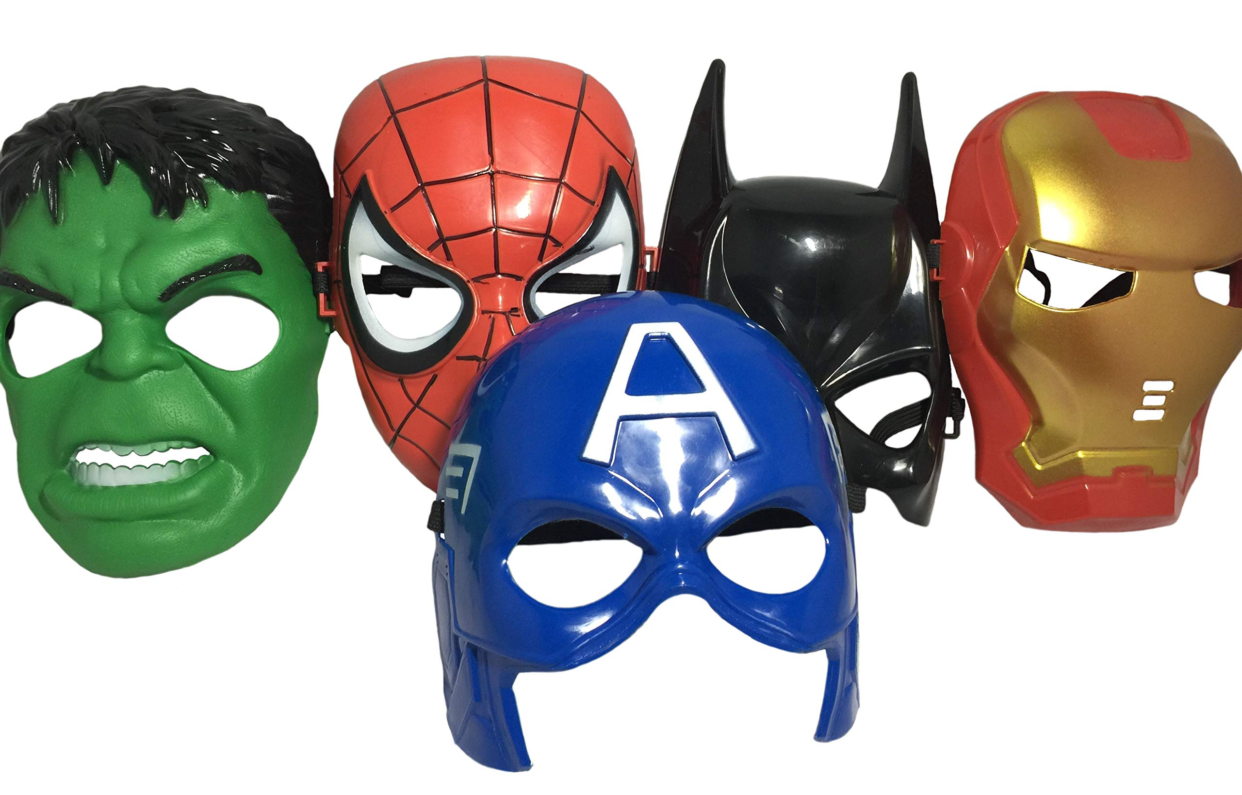 Seasons Merchandise Set Of 5 Masks: Spider-Man, Batman, Hulk, Iron man, Captain America by Seasons Merchandise