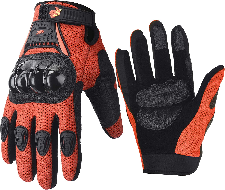M, Pink Street Bike Full Finger Motorcycle Gloves 09