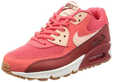 wholesale dealer 0fddc 997bc Nike Womens Air Max 90 Essential Orange Leather Trainers 6 US