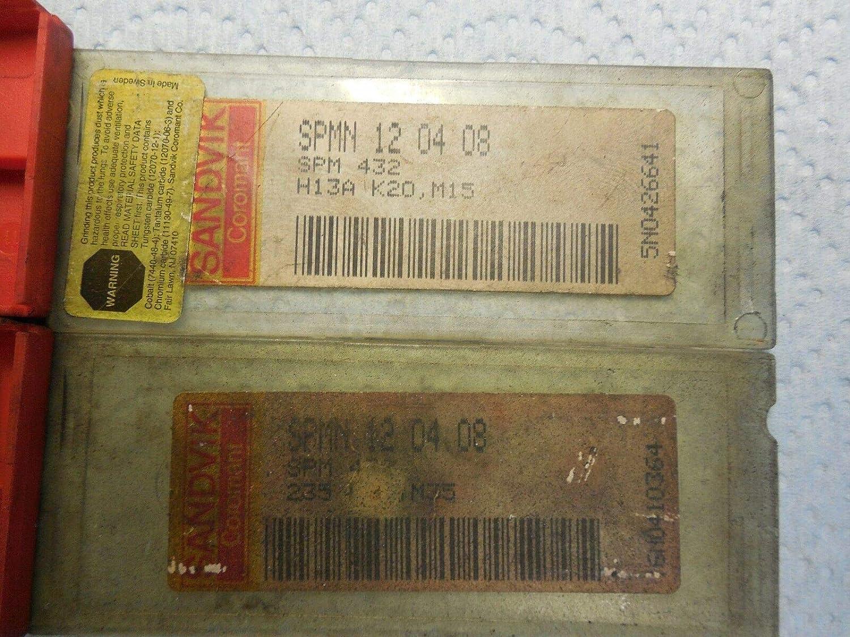 10PCS NEW SANDVIK SPMN 12 04 08 432 H13A /& 5PCS 235 TIN COATED CARBIDE INSERTS