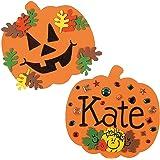 8 Inch Foam Halloween Pumpkins - Craft Shapes - 24 Pack