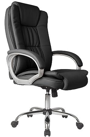 Cuir En Inclinable Chaise De Elevable Fauteuil Confort – Stock Bureau Et Vente Noir Simili 2 lK1cFJ