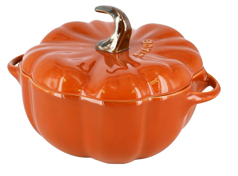 ZWILLING J.A. HENCKELS 40511-554 Staub Ceramic Pumpkin Cocotte- 0.75 qt./0.75 L, Small, Orange