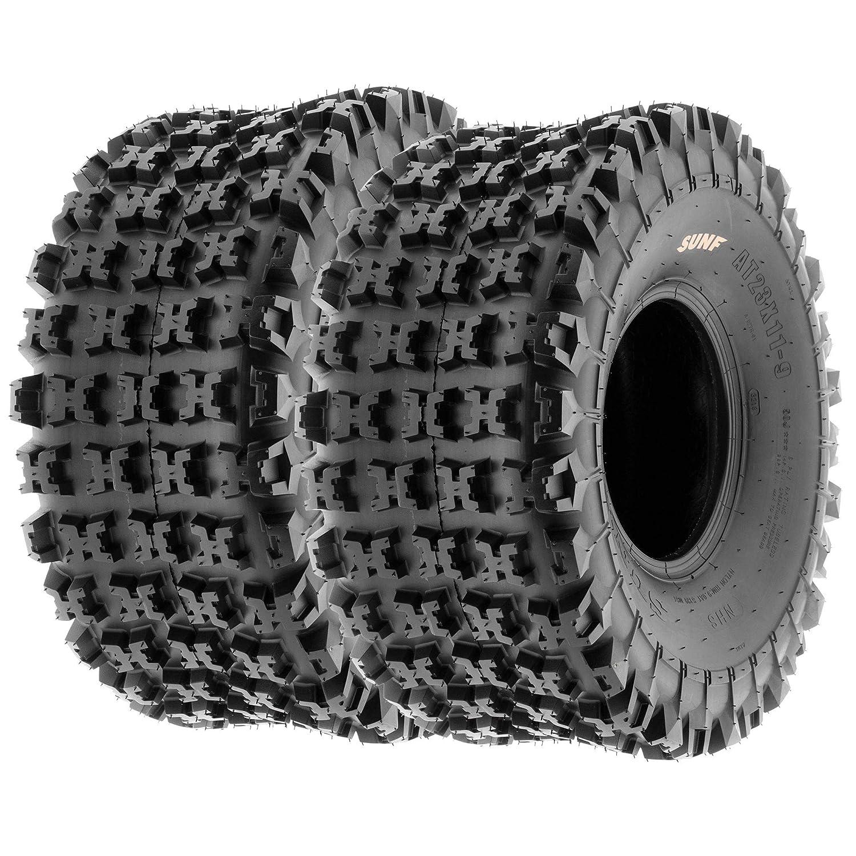 6 PR Tubeless Set of 4 SunF A027 XC 19x7-8 Front /& 20x10-9 Rear ATV UTV Knobby Sport Tires
