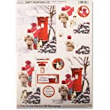Craft Creations-Carta per Decoupage, motivo in 3D die_cut DCD611 Christmas Post __-_per bambini, formato A4, 210 x 297 mm, Layout step_by_step _