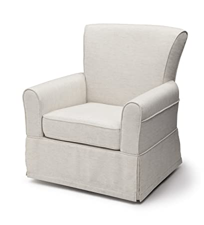 DeltaFurnitureUpholsteredGliderSwivelRockerChairSand
