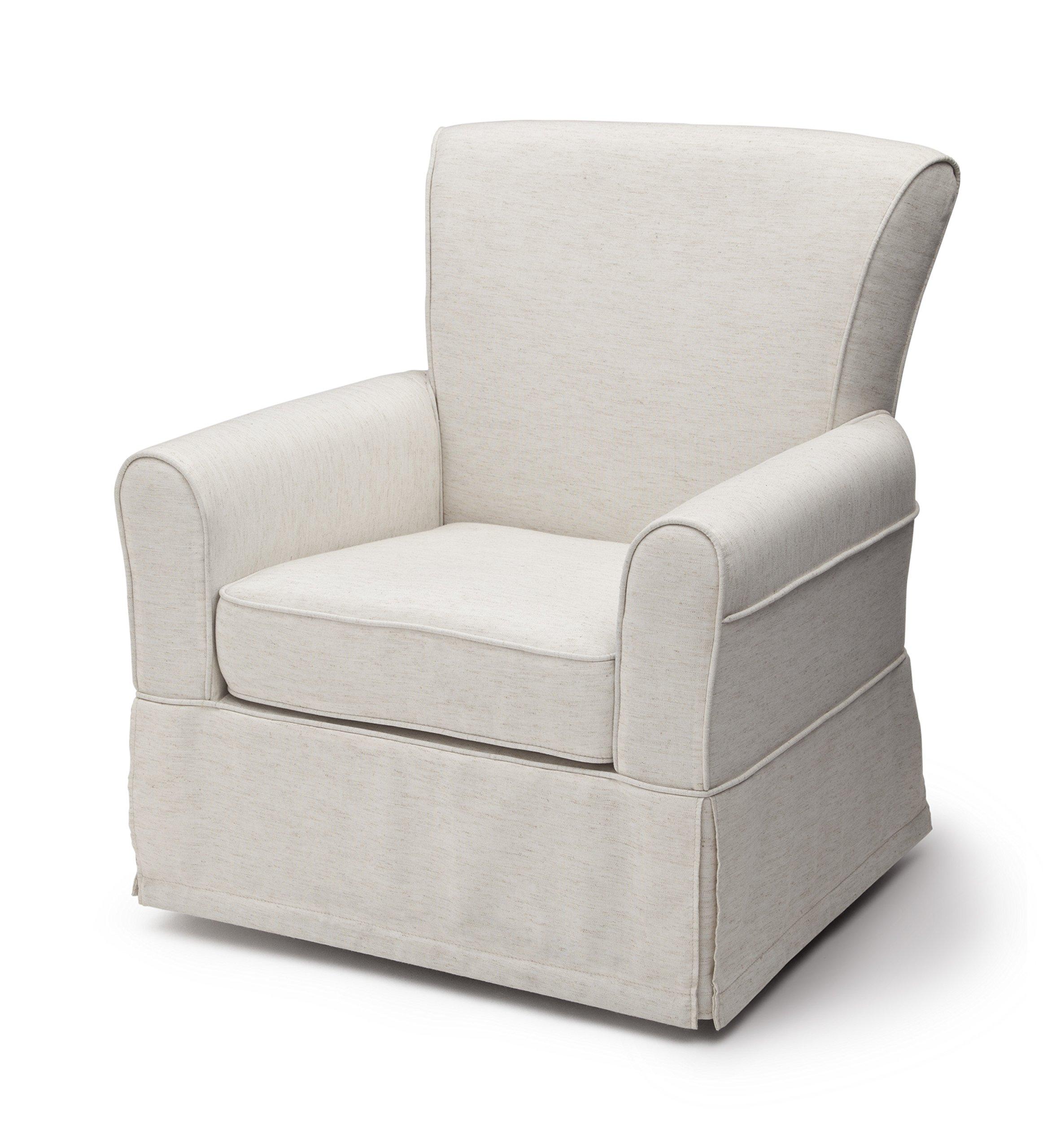 Delta Furniture Upholstered Glider Swivel Rocker Chair, Sand