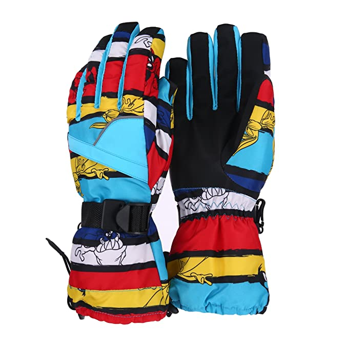 b5e07e023c9897 Unistrengh Men's Ski Snowboard Gloves Windproof Waterproof Snowboarding  Skiing Mittens for Winter Outdoor Snow Sports (