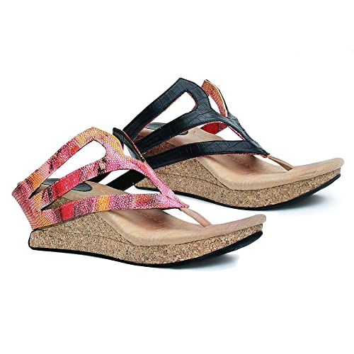 992a02801ef Modzori Zara Women s Mid Wedge Reversible Sandal (6