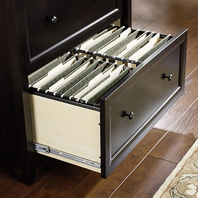 Mueble archivador con 2 cajones y seguridad de enclavamiento para carpetas de archivos de tamaño carta y legal en color negro acabado de madera: Amazon.es: ...