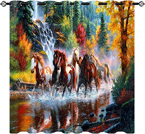 ANHOPE Horse Blackout Curtain