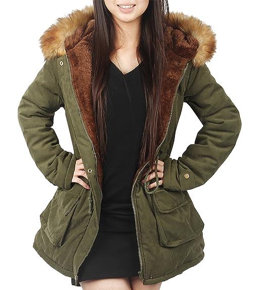 Amazon.com: iLoveSIA Womens Hooded Warm Coats Parkas Anroaks: Clothing
