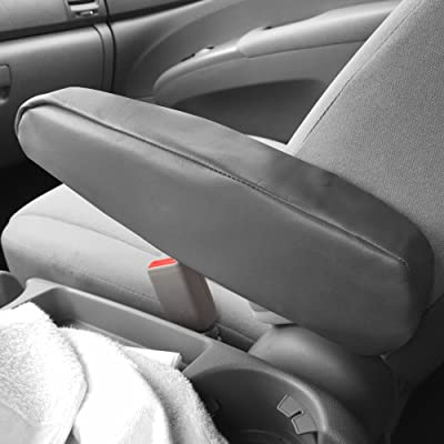 FH Group FH1052GRAY Armrest Cover Semi-Universal (Gray Premium Faux Leather - One Pair Set of 2): Automotive