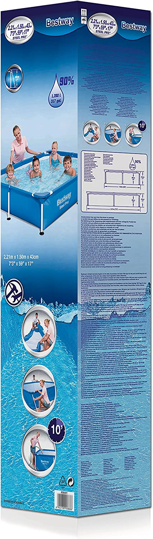 221 x 150 x 43 cm Bestway Splash Jr.Piscina Desmontable Tubular Infantil