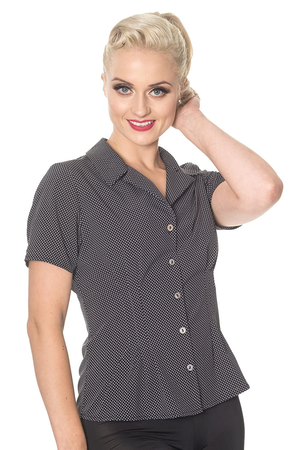 1940s Blouses and Tops Banned Lou Lou Womens Vintage Retro Blouse - 3 Colours $28.95 AT vintagedancer.com