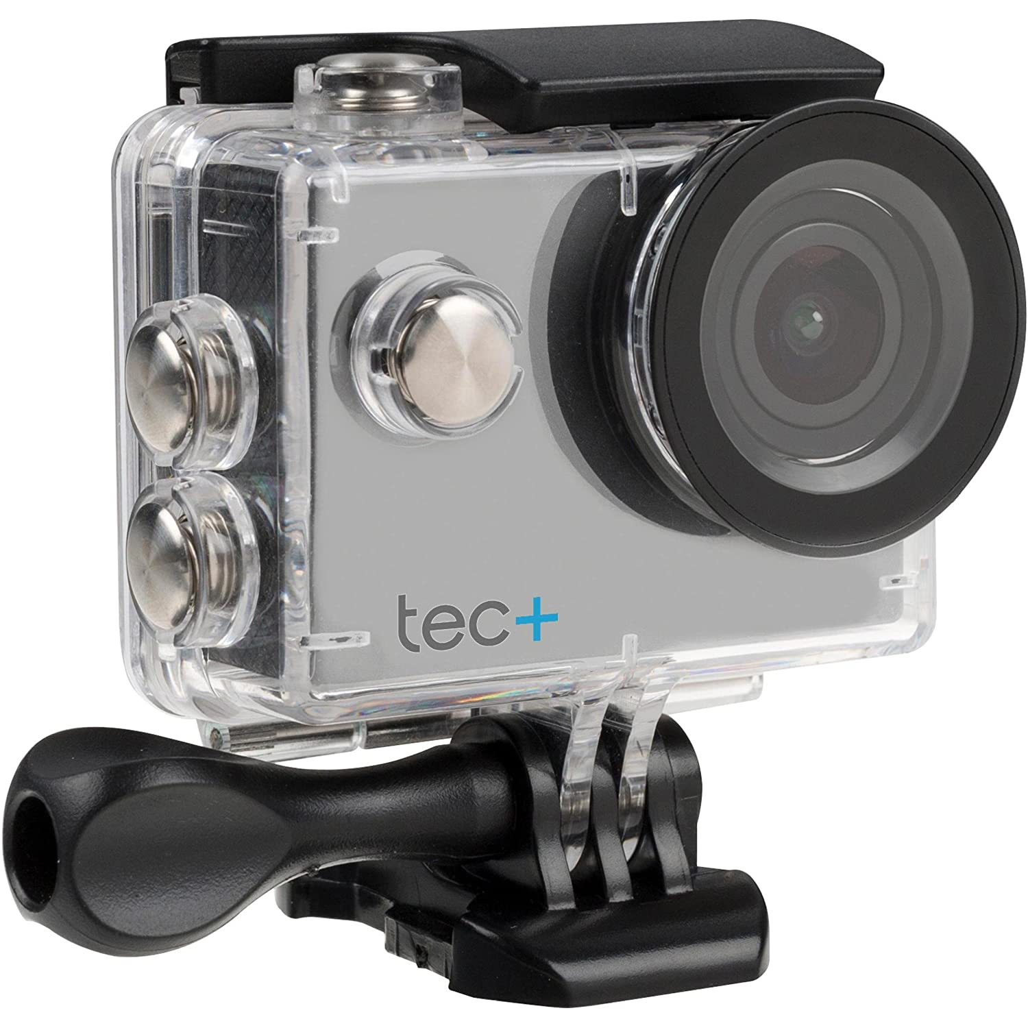 TecPlus 4K 12 MP Ultra Wide 170 Degree Lens Waterproof 30 m Helmet Camera Sports Action Camera with Mounting Accessories Kit for Cycling//Surfing//Climbing Silver