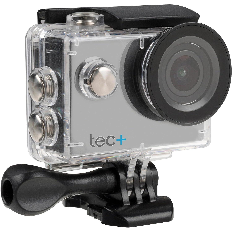 Tec+ 720P HD Display Actionkamera Action Sport Camera Inkl. Diversen Halterungen und Wasserdichtem Gehäuse TPACHDBK