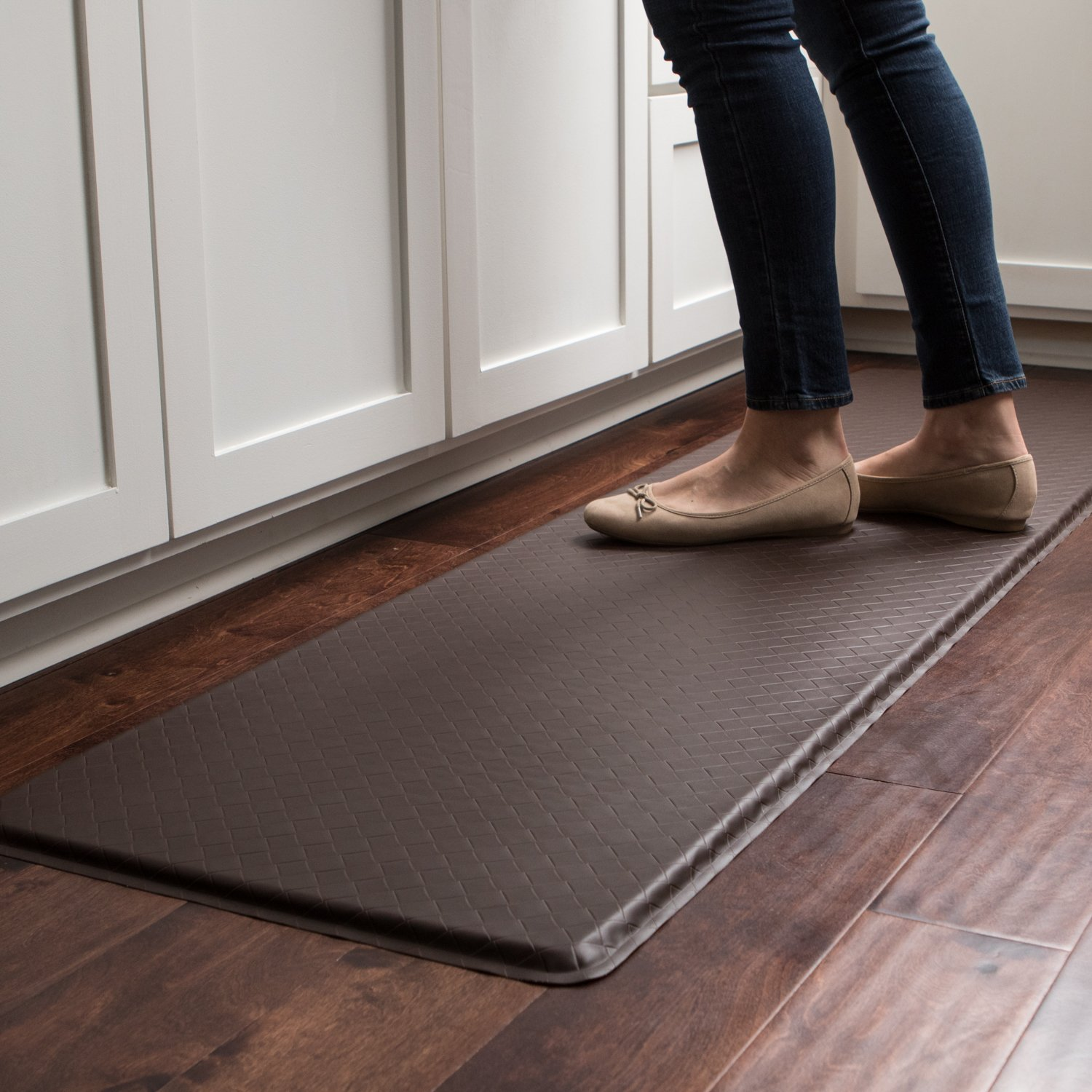 """GelPro Classic Anti-Fatigue Kitchen Comfort Chef Floor Mat, 20x72"""", Linen Cardinal Stain Resistant Surface with ½"""" gel core for health & wellness by GelPro (Image #5)"""
